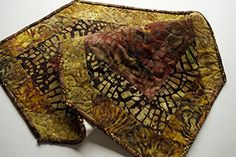 Batik Patchwork Quilted Table Runner in Earth Tones * BEST VALUE BUY on Amazon #BohemianKitchen Bohemian Kitchen, Earth Tones, Table Runners, Outdoor Blanket, Amazon, Fabric, Handmade, Scrappy Quilts, Tejido
