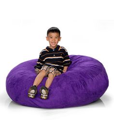Take a look at this Grape Purple Cocoon Jr. Beanbag by Jaxx Bean Bags on #zulily today!