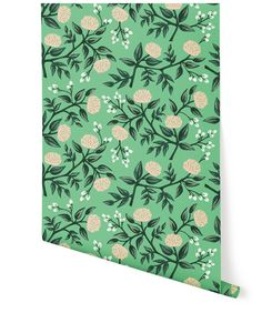 What we are getting for the dining room wall paper! Rifle Paper Co. Wallpaper, Peonies (Mint) – Hygge  West