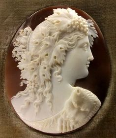 Rare Museum Quality Cameo of Bacchante from antiquecameos on Ruby Lane