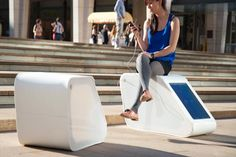 Phone-Charging Benches Offer Power In Public Spaces