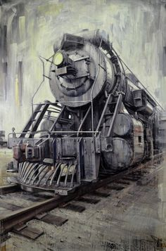 US Locomotive 2012, oil on canvas, 56x83in  Valerio D'Ospina