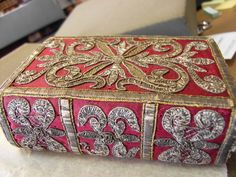 17th-century embroidered binding.