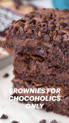 Decadent Brownie Recipe, Brownie Recipes, Cookie Recipes, Dessert Recipes, Candy Recipes, Just Desserts, Delicious Desserts, Yummy Food, Eat Dessert First