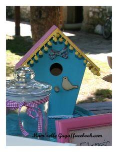 birdhouse- φωλια πουλιου Christening Decorations, Bird, Outdoor Decor, Handmade, Home Decor, Hand Made, Decoration Home, Baptism Decorations, Room Decor