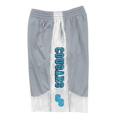 """Champion Athletic Short. 100% Polyester. Side seam pockets, 10"""" inseam and quickcord waistband."""