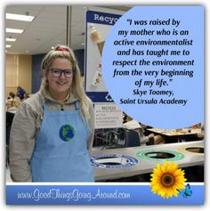 Skye Toomey, a senior at Saint Ursula Academy in Cincinnati, shares why she is in her school's Earth Club and how her group is helping to reduce waste.