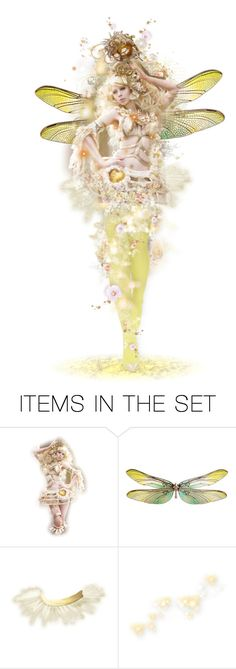 """""""Golden Faery """" Summer Faery Masquerade Ball """""""" by girlinthebigbox ❤ liked on Polyvore featuring art, fantasy, fairy and masqerade"""