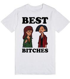 http://skreened.com/royal_attitude/best-bitches-daria-morgendorffer-and-jane-lane?Best Bitches | Daria Morgendorffer and Jane Lane | T-Shirt | Front