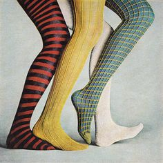 Woolite McCall's - October 1968: yellow fishnets on blue stockings