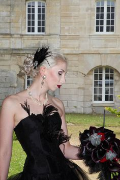 Janne and Tony's gothic wedding. Cermony in Citty Hall of Villers-Sous-Saint-Leu, France Gothic Wedding, Fall Halloween, France, Dresses, Fashion, Vestidos, Moda, La Mode, Fasion