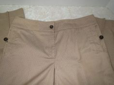 Talbots Pants Sz 8 Gold Tan Stretch Work Career Ankle  #Tabots #CasualPants