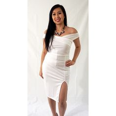 White One Shoulder Ruched Dress Latest Fashion Trends, Bodycon Dress, Clothes For Women, Formal Dresses, Shopping, Outerwear Women, Dresses For Formal, Body Con, Formal Gowns