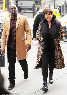 She takes the fur: Kris Jenner showed up her fashionista daughters when she wore a lavish leopard-print coat while out with boyfriend Corey Gamble in NYC on Wednesday Kardashian Jenner, Kourtney Kardashian, Kylie Jenner, Kris Jenner Style, Reality Shows, Leopard Print Coat, Winter Jackets, My Style, Stylish