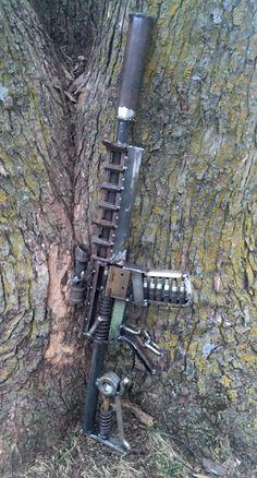 AR metal art sculpture  Assault rifle metal art Scrap metal welded art ReFind Works/Brian Quail