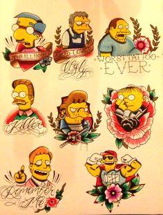 Simpsons tattoo flash
