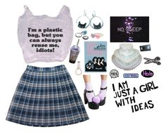 """""""I Don't Want To Feel Like A Plastic Bag"""" by louiseabunn ❤ liked on Polyvore featuring Olympia Le-Tan and Sugarbaby"""