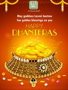 Wishing you a filled with prosperity and happiness. Happy Dhanteras, Festival Posters, Are You Happy, Gold Coins, Krishna, Happiness, Google Search, Board, Inspiration