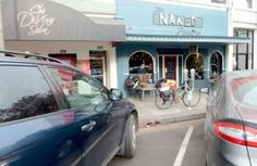 The Internal Affairs Committee took unanimous action on two items Wednesday to recommend the Chico City Council approve conversion of a diagonal parking space in front of the Naked Lounge will include two looping bike racks that support 12 bicycles.(Bill Husa/Staff Photo)