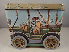 Vintage-Antique-Motor-Car-Tin-ME382