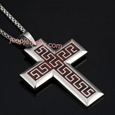 Cross with Greek Meander Motif