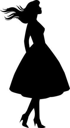 Dress, Woman, Silhouette, Female