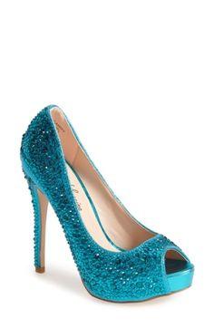 8e3e0277ebf Buy Lauren Lorraine  Candy  Crystal Peep Toe Pump (Women) online