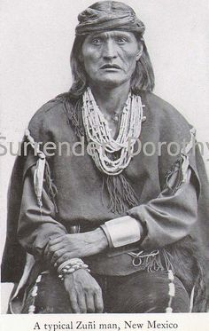 Zuni Man New Mexico Native People Photogravure, via Flickr.
