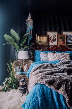 Dark Bedroom Styling
