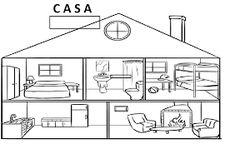 imagenes de casas para colorear para niños Buscar con Google Dibujo de casa Dependencias de la casa Dibujos de habitaciones