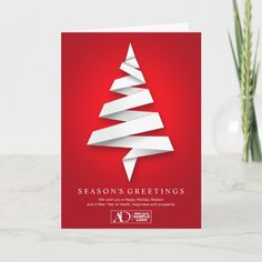 Personalized Business Holiday Cards With Logo #personalized #business #holiday #cards #corporate Corporate Christmas Cards, Business Holiday Cards, Christmas Greeting Cards, Christmas Greetings, Card Templates, Happy Holidays, Place Card Holders, Logo, Happy Holi