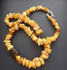 Butterscotch Amber Baltic Amber Necklace Baltic Amber Necklace, Amber Jewelry, Amber Color, Natural Shapes, Upcycled Vintage, Sterling Silver Rings, Glass Beads, Gemstones, Beaded Necklaces