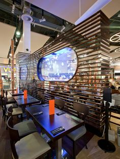 Awesome Interior Design Of Chaobaby Birmingham Restaurant With Modern Wall Decor Combined With Contemporary Furniture