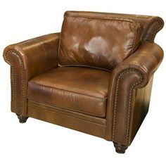 Leather Club Chair.