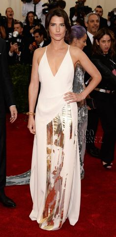 "Cobie Smulders Wears Her Very Best Nightgown To The Met Gala! ""Yey.. She's Robin Scherbatsky"""