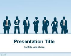 Free Business PPT Template with cyan background and businessmen silhouettes is a free business PowerPoint template that you can download for teamwork presentations or presentations on leadership and company presentations in PowerPoint