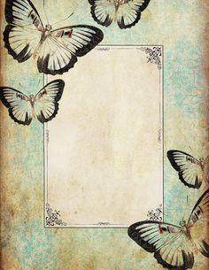 Lilac & Lavender ~ Vintage Butterfly Frame