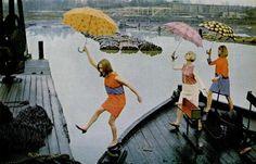 Marimekko LIFE magazine 1966 - dancing with umbrellas