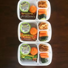 Prepping my hubby's lunches for a short week (everything except the sandwich I pack ahead).