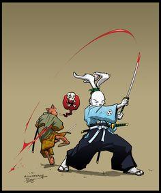 Usagi Yojimbo by *Inkthinker (http://inkthinker.deviantart.com/gallery/2544505?offset=24#/dbzbg0)