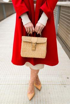 Coat – Vintage|| Dress – Zara || Pumps – Stuart Weitzman || Bag – c/o VT Thai (a new favorite!)