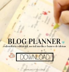 Blog Planner: organize o seu blog