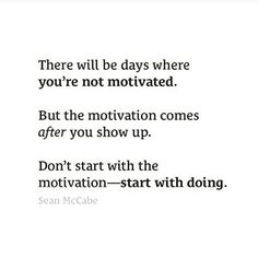 Great advice to keep on going