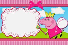 Peppa Pig Fairy Free Printable Invitations Labels Or Cards