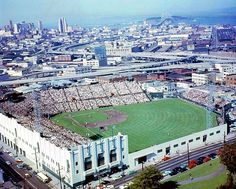 File: Seals Stadium with downtown in background c1958 - FoundSF.org
