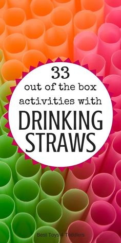 Best Toys 4 Toddlers - 33 out of the box ideas to use drinking straws for play, learning, arts and crafts and more! Best Toys 4 Toddlers - 33 out of the box ideas to use drinking straws for play, learning, arts and crafts and more! Straw Activities, Indoor Activities, Learning Activities, Preschool Activities, Babysitting Activities, Quiet Time Activities, Summer Activities, Activities For 4 Year Olds, Indoor Games