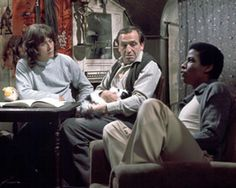 Rising damp. Richard beckinsale on the left was Kate beckinsale's dad. He died in his thirties British Tv Comedies, Classic Comedies, British Comedy, Richard Beckinsale, Leonard Rossiter, Rising Damp, School Tv, Comedy Tv, Television Program