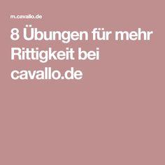 8 Übungen für mehr Rittigkeit bei cavallo.de