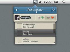 Dribbble - Instagram app UI by Dod
