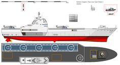 Polar class Type B Batch 1 Medium LHC  Length: 176,16 meters beam: min 23,55 meter, max 31,41 meter Draft: 8,20 meter speed: 20/25+ knots  ML: Awsome design!